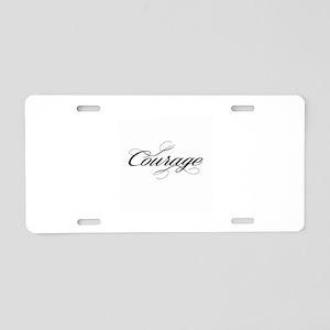 Courage Aluminum License Plate