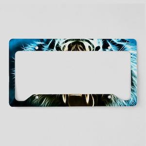 Fractal Tiger Art License Plate Holder