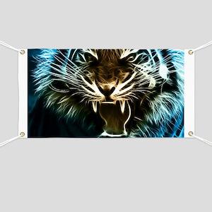 Fractal Tiger Art Banner