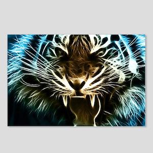 Fractal Tiger Art Postcards (Package of 8)