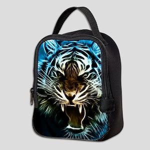Fractal Tiger Art Neoprene Lunch Bag