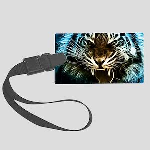 Fractal Tiger Art Luggage Tag