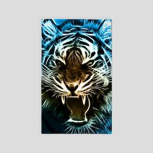 Fractal Tiger Art Area Rug