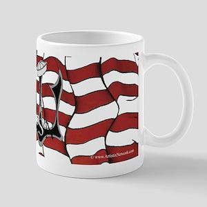 US Flag N Anchor Mugs