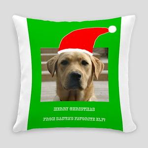 Santas Favorite Elf Labrador Penel Everyday Pillow