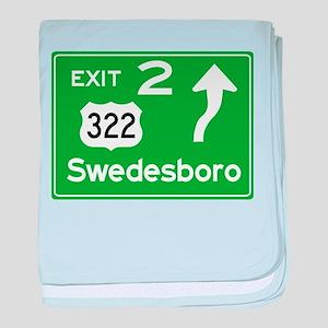 NJTP Logo-free Exit 2 Swedesbor baby blanket