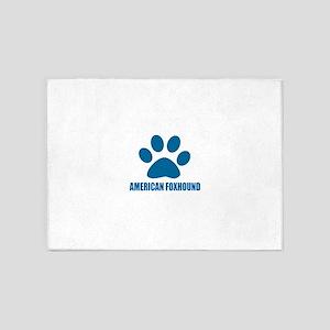 American Foxhound Dog Designs 5'x7'Area Rug