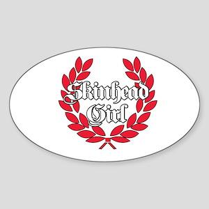 Skinhead Girl Red Sticker