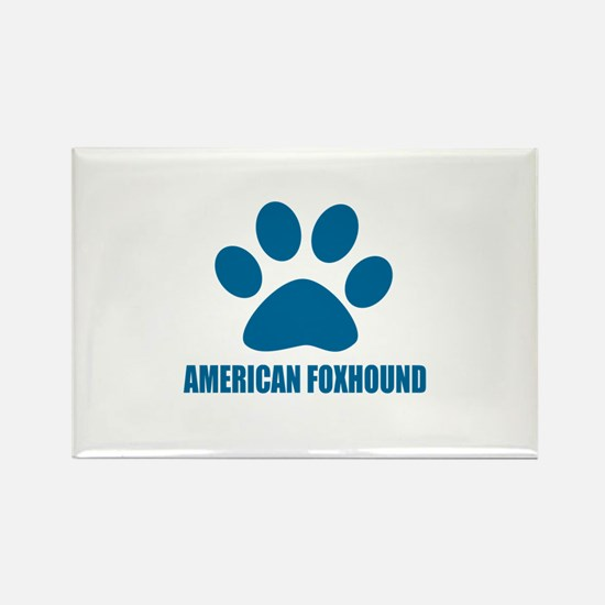 American Foxhound Dog Rectangle Magnet (100 pack)