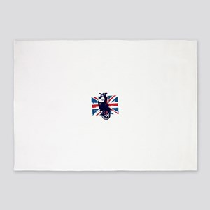 Union Jack Scooter 5'x7'Area Rug