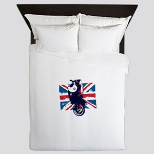 Union Jack Scooter Queen Duvet