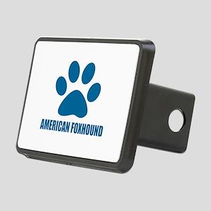 American Foxhound Dog Desi Rectangular Hitch Cover