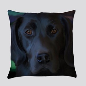Black Lab Everyday Pillow