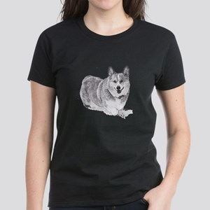 Red and White Welsh Corgi in the Snow T-Shirt