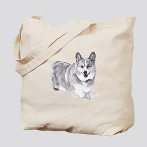 Red and White Welsh Corgi in the Snow Tote Bag