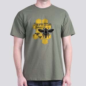 Honeycomb Save The Bees Dark T-Shirt