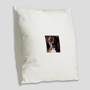 3-AdoringBoxer_User Burlap Throw Pillow