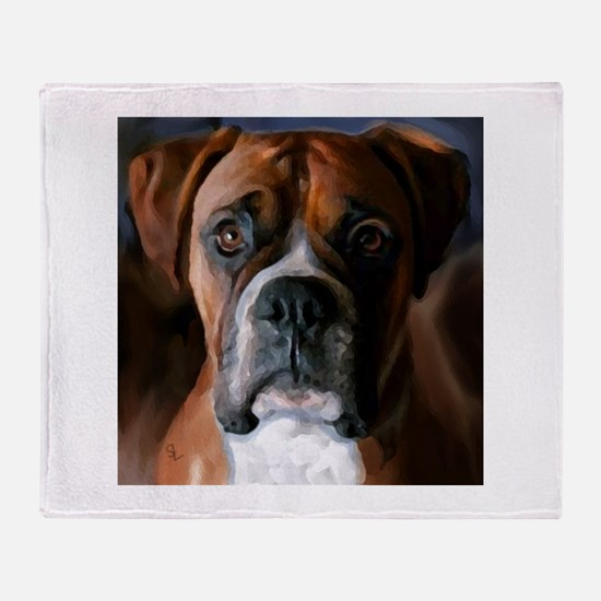 3-AdoringBoxer_User.BMP Throw Blanket