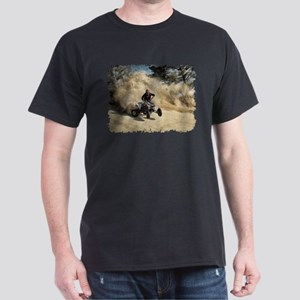 ATV on Dirt Road in Dust Cloud w/Edges T-Shirt