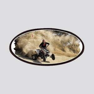 ATV on Dirt Road in Dust Cloud w/Edges Patch