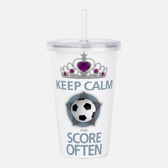 Keep Calm Soccer Acrylic Double-wall Tumbler