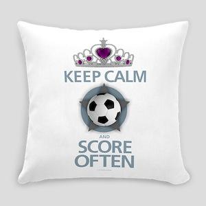Keep Calm Soccer Everyday Pillow