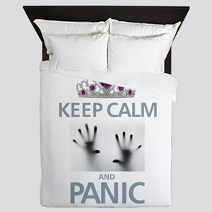 Keep Calm Panic Queen Duvet