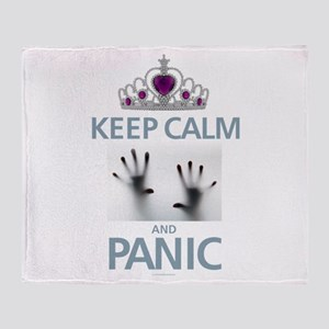 Keep Calm Panic Throw Blanket