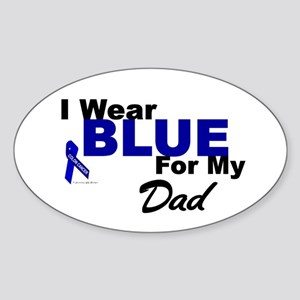 I Wear Blue 3 (Dad CC) Oval Sticker