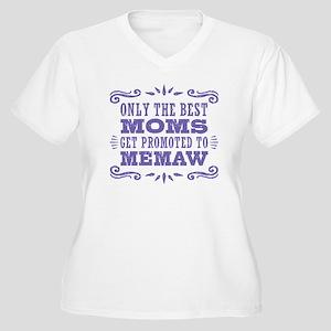 The Best Moms Get Women's Plus Size V-Neck T-Shirt