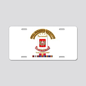 27th Engineer Bn w Afghan S Aluminum License Plate