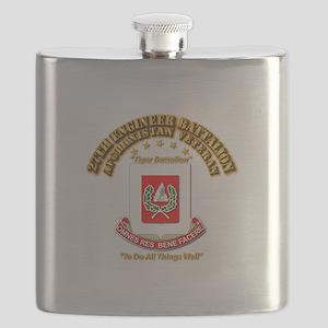 27th Engineer Bn - Afghan Vet Flask