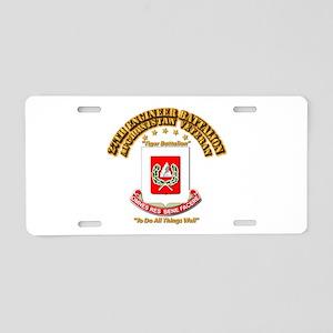 27th Engineer Bn - Afghan V Aluminum License Plate