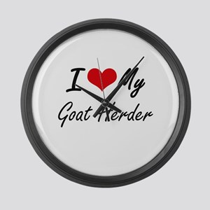 I love my Goat Herder Large Wall Clock