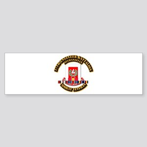 27th Eng Bn w Afghan Cbt Vet Sticker (Bumper)