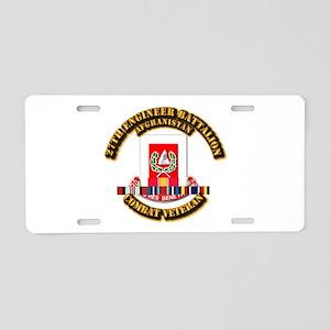 27th Eng Bn w Afghan Cbt Ve Aluminum License Plate