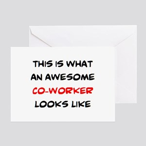 awesome co-worker Greeting Card
