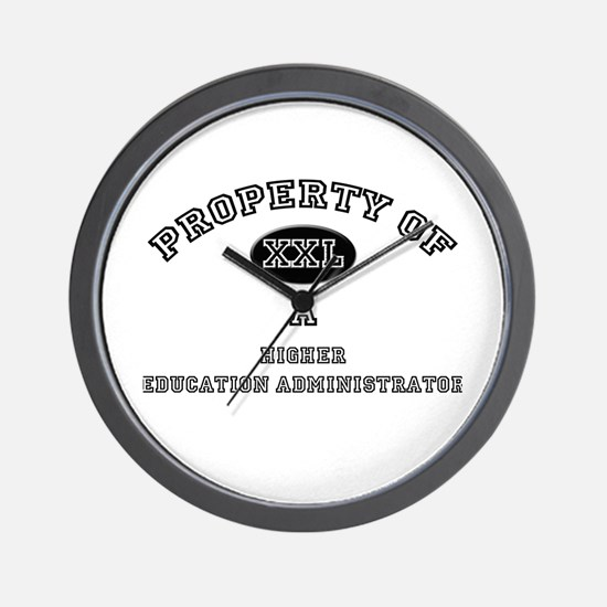 Property of a Higher Education Administrator Wall