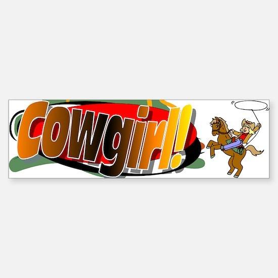 Cowgirl Bumper Bumper Bumper Sticker