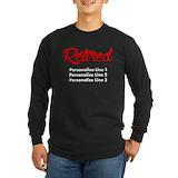 Retirement Long Sleeve Dark T-Shirts