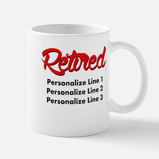 Retired Custom Mug