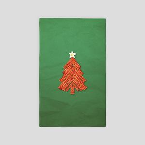 Bacon Christmas Tree 3'x5' Area Rug