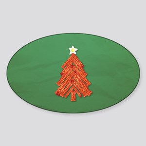 Bacon Christmas Tree Sticker (Oval)