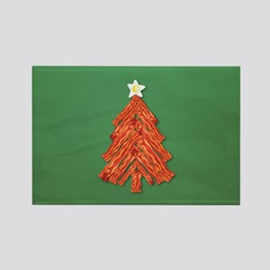 Bacon Christmas Tree Rectangle Magnet