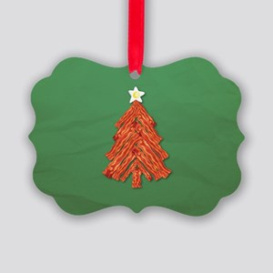 Bacon Christmas Tree Picture Ornament