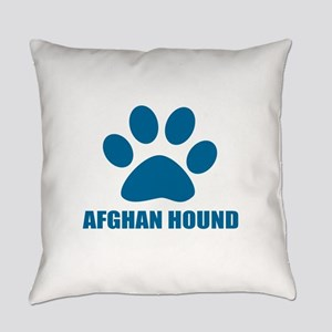 Afghan Hound Dog Designs Everyday Pillow