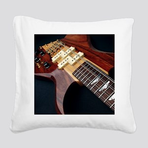 Electric Guitar Square Canvas Pillow