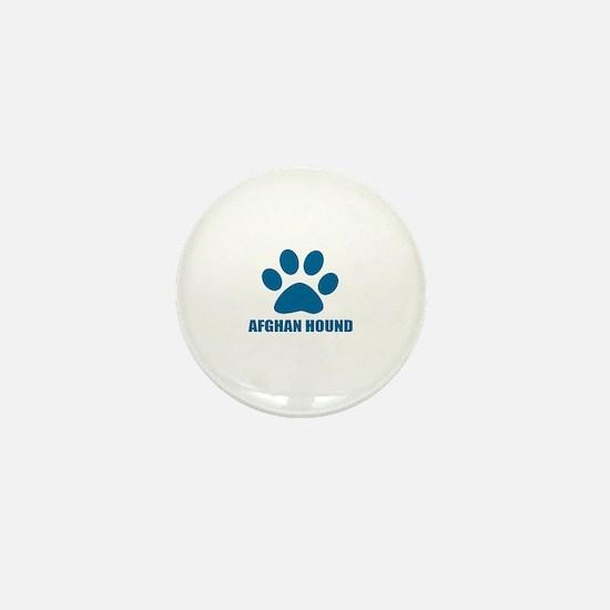 Afghan Hound Dog Designs Mini Button
