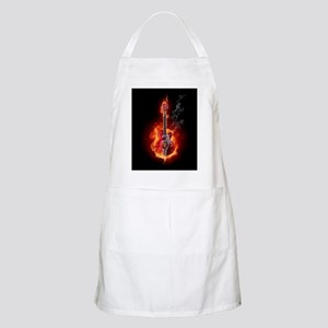 Flaming Guitar Apron