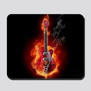Flaming Guitar Mousepad